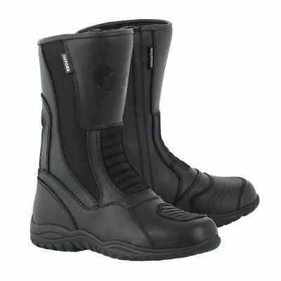 Oxford Tracker Boots Leather Waterproof Motorcycle Motorbike Boots