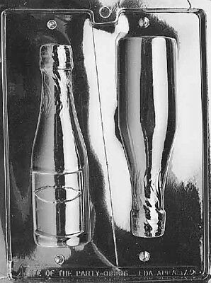 LARGE 3D Chocolate CHAMPAGNE BOTTLE Party Mould Set - 2 in 1 wine bottle Mold