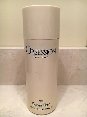 Vintage Obsession For Men Talc 3.5 oz/100g by Calvin Klein New No Box