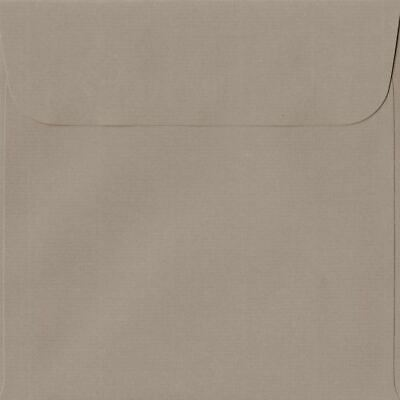 Taupe 160mm x 160mm Peel/Seal 100gsm Square Paper Coloured Envelopes