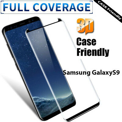Fit For Samsung Galaxy S9 3D FULL Curved /Tempered Glass LCD Screen Protector