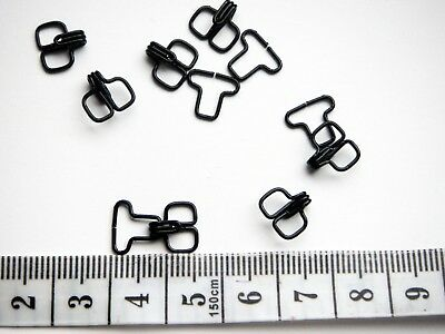 50 Pairs metal hook and eye fasteners. Colour: black