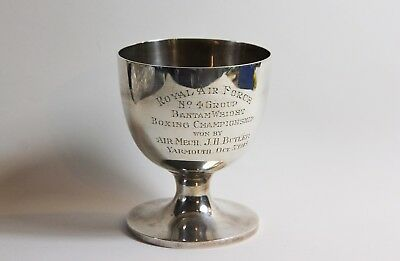 Military sterling silver boxing trophy Mappin Webb Jimmy Butler Surrey Regiment