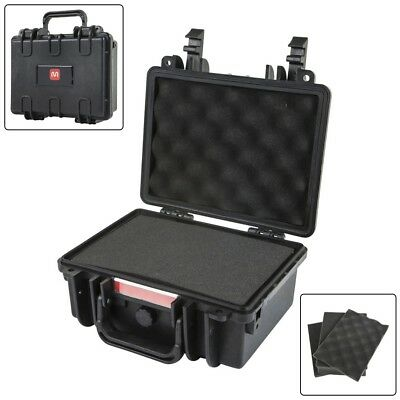 "Weatherproof Hard Travel Case w/ Customizable Foam For Camera Accs 10""x8""x4"""