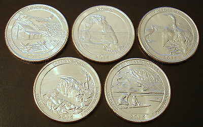 Jahressatz 2014 US National Park Quarter D Mint (set of 5 coins from 2014 unc.)