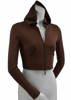 Wholesale Junior Fitted Crop Cropped Hoodies Zip Zippered Pink Gray White Brown