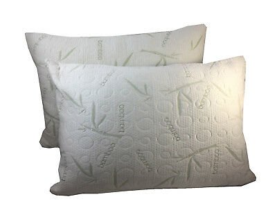 2 Pack Miracle Bamboo Pillows Memory Foam Pillow Shredded Memory Foam Pillow