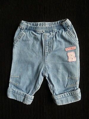 Baby clothes GIRL newborn 0-1m Disney Little Roo faded light blue jeans/trousers