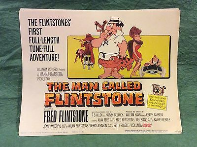 Vintage Complete Set 1966 Lobby Cards With Original Wax Envelope Flintstones