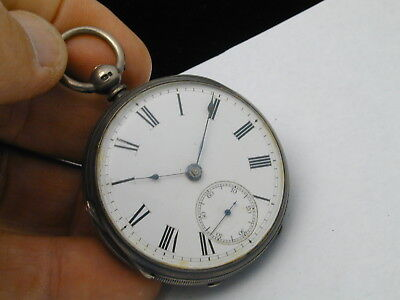 vintage 1870s fusee extra fine perfect dialed 49 mm cased silver pocket watch 10