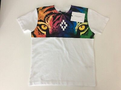 Marcelo BURLON Boys T Shirt, Tiger, Size Age 4 XXS, white, New BNWTS