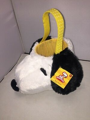 Peanuts SNOOPY Plush Head EASTER BASKET - BRAND NEW!