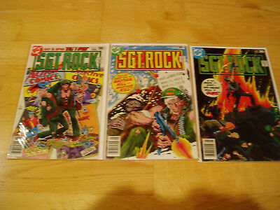 Our Army At War DC Comic Lot #312 316 317 Sgt Rock Easy Company Early Key Issues