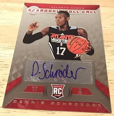 DENNIS SCHRÖDER 2013-14 Totally Certified Rookie Roll Call Autographs Red #ed 99
