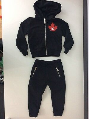 Dsquared2 Ds2 Boys Jogging Tracksuit, Size Age 4 Hoodie & Bottoms Immaculate