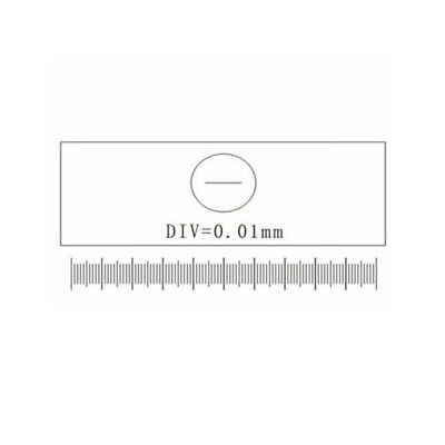 DIV 0.0 1mm Stage Graticules Microscope Stage Micrometer Calibration Slide Scale