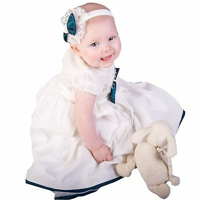 12-18M Soft Baptism Long Gown Christening Dresses Baby Clothes Scoop Neck 2018