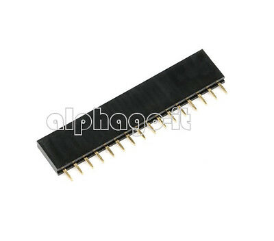 10/20/50/100x 16Pin Header 2.54mm Pitch Single Row Female Straight Strip