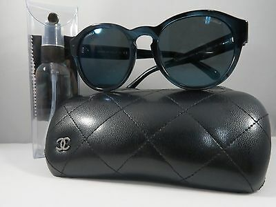 Chanel Women's Sunglasses Turquoise Striped Authentic 5359 c.1570/Z6 54mm w/Case