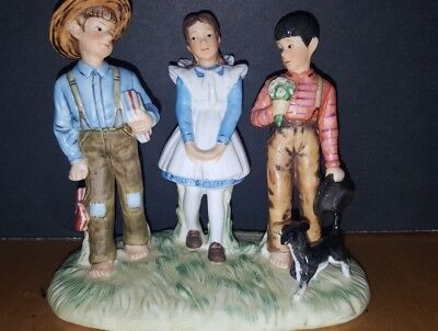 Norman Rockwell--Figurine--Spring--A Young Man's Fancy--World Of Gorham--