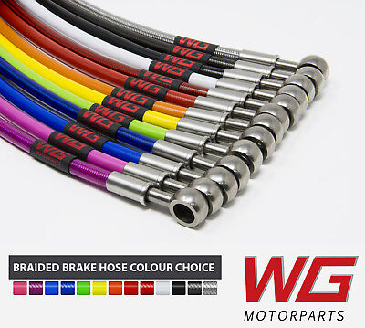 WG Braided Brake Line Hose Kit for Audi A3 Quattro 2.0TFSi Front Discs (04