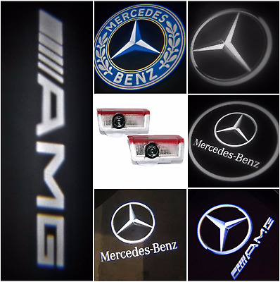 2x Mercedes Benz AMG Puddle Lights Logo Car Door Projector A B C E S M GL Class