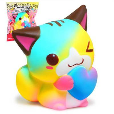 Colorful Cat Squishy Cute Squishies Slow Rising Cream Scented Original Package