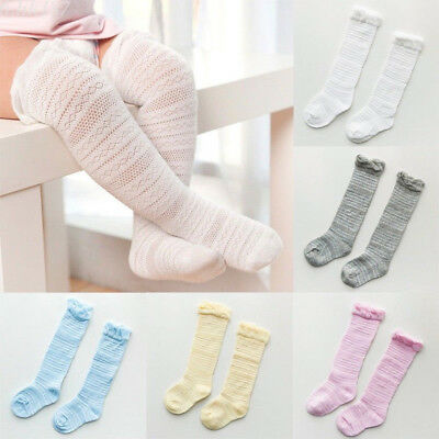 Newborn Baby Toddler Knee High Lace Cute Long Sock Boys Girls Leg Warmers Socks