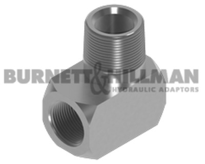 Burnett & Hillman NPTF Male x NPTF Fixed Female 90° Compact Elbow Adaptor