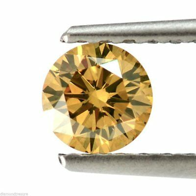 Loose Moissanite Brown Color 0.53 TO 1.18 CT VVS1 Round Brilliant Cut