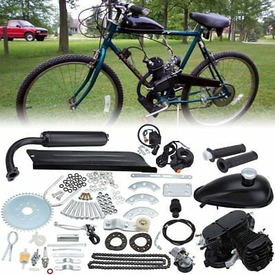 50CC Motorised Motorized Bicycle Push Bike 2 Stroke Motor Engine Kit Black BG A