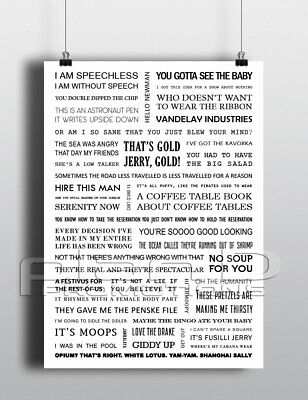 Seinfeld Quotes Poster A4 - White