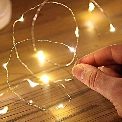 Small Micro LED Fairy Lights Copper Wire Button Battery Wedding Bedroom Decor