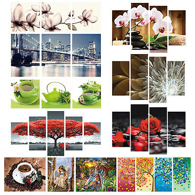 1-5 Panel Picture Wall Art Oil Painting Print Canvas Modern Home Room Decor Gift