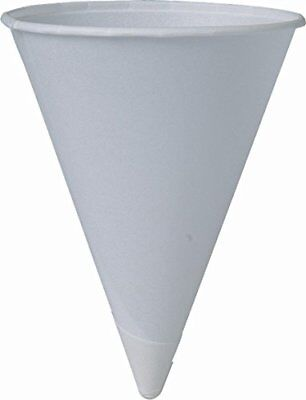 SOLO Cup Company Solo 4BR 200 Piece Cup Company Cone Water Cups Cold Paper Wh...