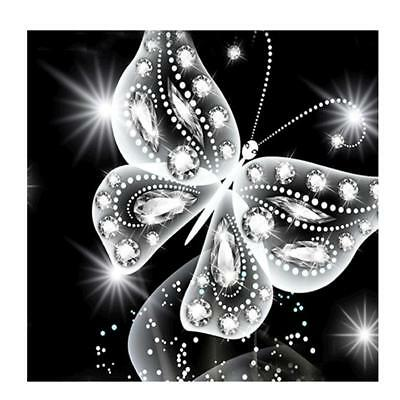 Butterfly Painting 5D Diamond Embroidery DIY Cross Stitch Kit Home Bedroom Decor
