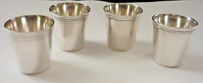 Four Vintage Christofle Silver Plate Shot Beakers