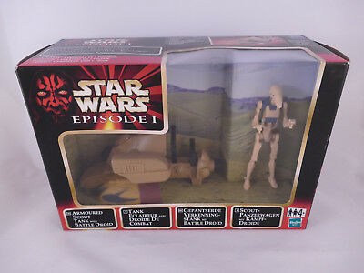 Star Wars Episode 1 Armoured Scout Tank With Battle Droid European Box Misb
