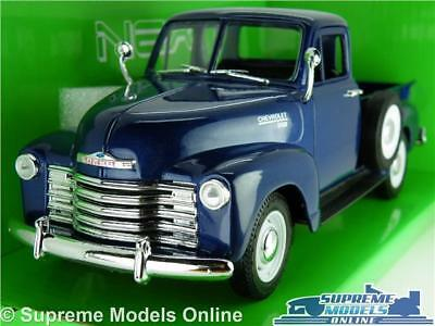 Chevrolet 3100 Pick Up Truck Model Car 1:24 Scale Blue Welly Large 1953 Usa K8