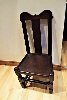17th Century Oak Child's Chair Charles Ist