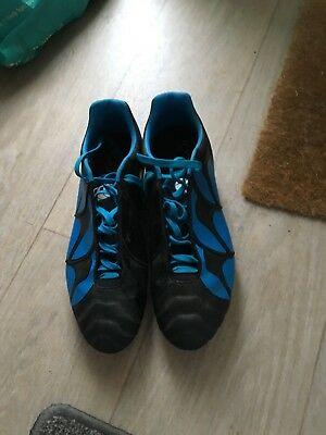 Canterbury Stampede Black/Blue Rugby Boots Size 11