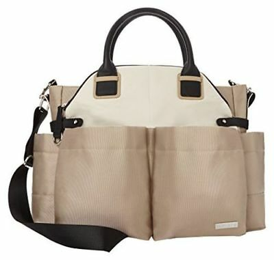 Skip Hop Baby Chelsea Downtown Chic Infant Diaper Bag Satchel Champagne NEW