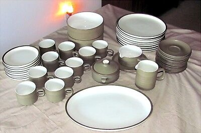 Denby Camelot in Green, 46 Pc Set for 8 & Serving Pieces