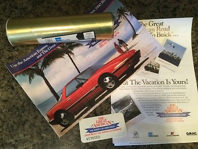 1990 Buick Marketing AMEX Sales Mailer in original tube. Reatta Electra Riviera