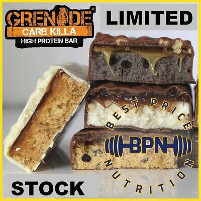 Grenade CARB KILLA 12x60g BARS - LIMITED STOCK - BEST PRICE