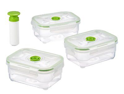 JOCCA SET OF 3 Storage Containers with Vacuum Pump Food Sealing