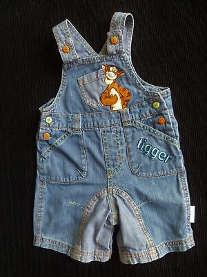 Baby clothes BOY 6-9m Disney Tigger short 2-colour faded blue denim dungarees