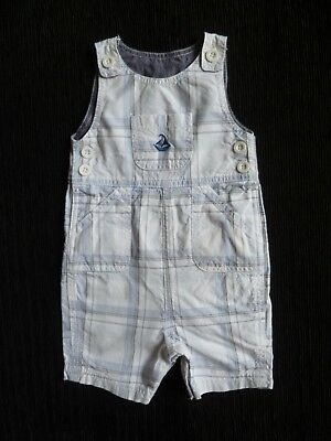 Baby clothes BOY 6-9m MiniClub yacht short white/blue summer cotton dungarees