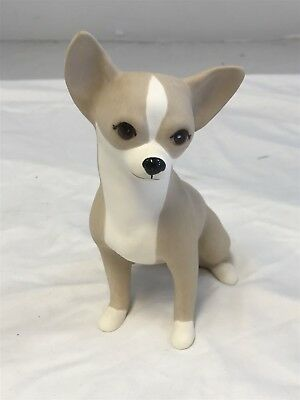 "Edward R. Klein Seated Smooth Coat CHIHUAHUA 7 1/2"" Figurine Signed Dated 1995"