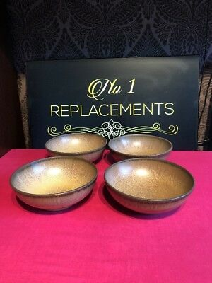 4 x Denby Romany Large Cereal Bowls 6.5""